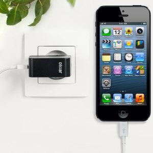 Chargez votre iPhone 5 et tout autre appareil USB rapidement et en toute simplicité grâce à ce chargeur secteur 2.4A haute puissance compatible Lightning. Ce chargeur secteur EU est également fourni avec un câble Lightning.