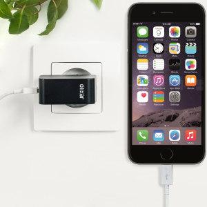 Chargez votre iPhone 6 Plus et tout autre appareil USB rapidement et en toute simplicité grâce à ce chargeur secteur 2.4A haute puissance compatible Lightning. Ce chargeur secteur EU est également fourni avec un câble Lightning.