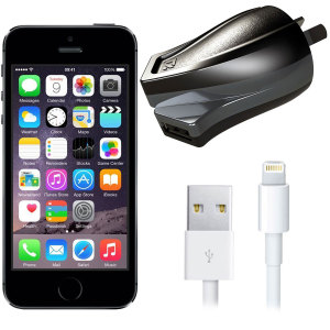 Charge your iPhone 5S and any other USB device quickly and conveniently with this compatible 2.4A high power Lightning Australian charging kit. Featuring an AUS wall adapter and Lightning cable.