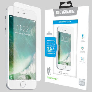 Keep your iPhone 7 safe and secure this ultra tough screen protector from BodyGuardz which is made from the same material used to shield the front of vehicles from rock chips.