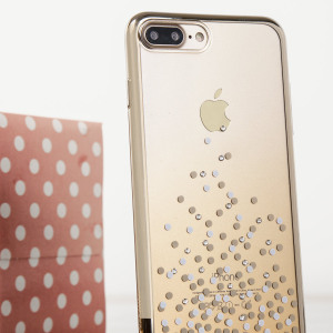 Coque iPhone 7 Plus Unique Polka 360 – Or Champagne