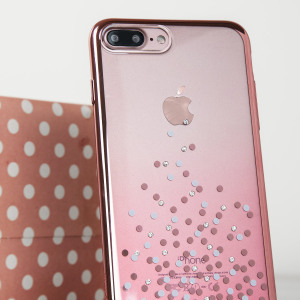Coque iPhone 7 Plus Unique Polka 360 – Or Rose