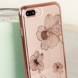 Funda iPhone 7 Plus Crystal Flora 360 - Oro Rosa