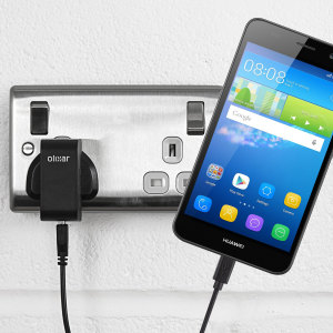 Charge your Huawei Y6 quickly and conveniently with this compatible 2.4A high power charging kit. Featuring mains adapter and USB cable.