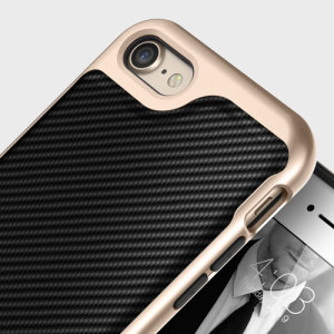 Coque iPhone 7 Caseology Envoy Series – Fibre Carbone Noir