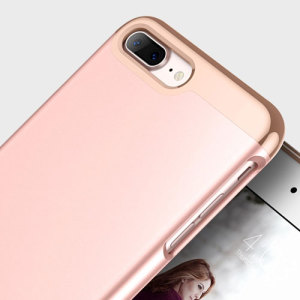 Made from robust smooth finish sliding components and featuring an eye-catching matte and metallic design, the Savoy Series slider case in rose gold keeps your iPhone 7 Plus safe, sleek and stylish.