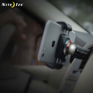 Keep your phone where you can see it while driving with the Steelie FreeMount Kit from Nite Ize. A powerful neodymium magnet and secure phone holder grip your device in place, allowing free rotation while providing excellent stability.