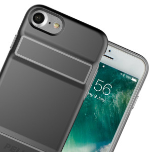 The Peli Guardian Case in black and grey keeps your iPhone 7 protected with a thin and lightweight yet protective dual-layered design, ensuring the perfect combination of style and security without adding unnecessary bulk.