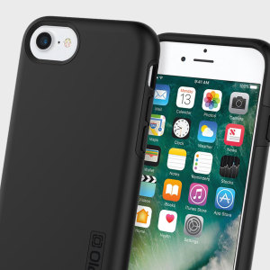 The Incipio DualPro in Black wraps your iPhone 7 in two layers of protection, first of which being a strong silicone core and the second being a hard shell outer cover.