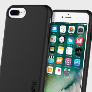 The Incipio DualPro in Black wraps your iPhone 7 Plus in two layers of protection, first of which being a strong silicone core and the second being a hard shell outer cover.