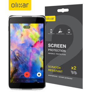 Keep your Alcatel IDOL 4S screen in pristine condition with this Olixar scratch-resistant screen protector 2-in-1 pack.
