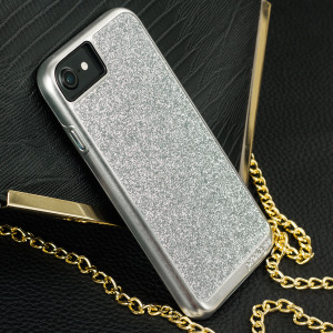 Add a touch of bling to your iPhone 7, whilst keeping it well protected with the silver Sparkle Fusion Glitter Case from Prodigee. Slim, light and incredibly attractive, this case really does have it all and is screen protector friendly.