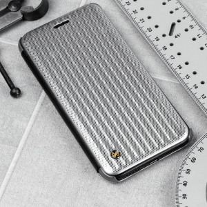 Introducing the new Jet Set Flip Case in Micro Silver from STIL. Inspired by a luxury suitcase, this stylish case provides great protection for your iPhone 7. With a slot on the inner, this case is perfect to store a card, for when you need it the most.