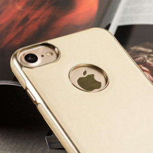 Funda iPhone 7 Olixar FlexiLeather - Oro