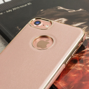 Coque iPhone 7 Olixar FlexiLeather - Or Rose