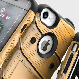 Equip your Apple iPhone 8 / 7 with military grade protection and superb functionality with the ultra-rugged Bolt case in gold and black from Zizo. Coming complete with a handy belt clip and integrated kickstand.