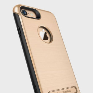 Protect your iPhone 8 / 7 with this precisely designed case in champagne gold from VRS Design. Made with tough, durable yet slim materials, this hardshell construction with shock absorbent core follows the curves of your phone perfectly.