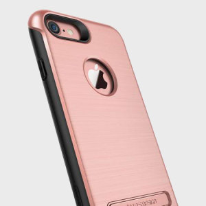 Protect your iPhone 7 with this precisely designed case in rose gold from VRS Design. Made with tough, durable yet slim materials, this hardshell construction with shock absorbent core follows the curves of your phone perfectly.
