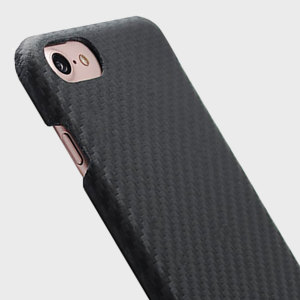 SLG D+ Italian Carbon Leather iPhone 7 Shell Case - Black