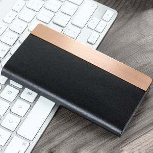 Crafted from genuine calfskin leather and complimented by a sleek metal edge, this black wallet case from SLG is the perfect and most stylish way to protect your iPhone 7, whilst storing your credit cards, ID and cash.