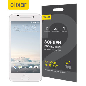 Keep your HTC One S9 screen in pristine condition with this Olixar scratch-resistant screen protector 2-in-1 pack.
