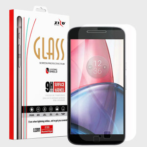 Zizo LightningShield Moto G4 Play Tempered Glass Screen Protector