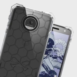 The Covert Protective bumper case in clear from Ghostek comes complete with a tough and highly durable film screen protector to provide your Moto Z Force with fantastic all round protection, whilst highlighting its superb design.