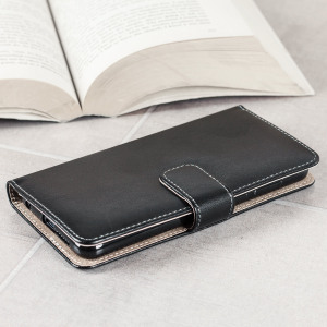 Protect your Huawei Honor 8 with this durable and stylish black leather-style wallet case from Olixar.