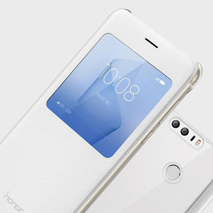 Housse officielle Huawei Honor 8 Flip View – Blanche