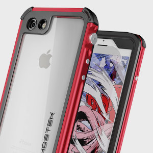 Equip your iPhone 7 with the most extreme and durable protection around! The red Ghostek Atomic 3.0 is completely waterproof and provides rugged drop protection with it's HD scratch resistant screen protector, whilst keeping the phone slim.