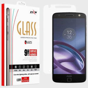 Made from high quality tempered glass, the Zizo Lightning Shield provides crystal clear, responsive protection for your Motorolo Moto Z. Easy to apply, the bubble-free installation takes a matter of seconds, making for a quick and easy application.