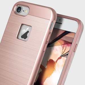 Coque iPhone 7 Obliq Slim Meta – Or rose