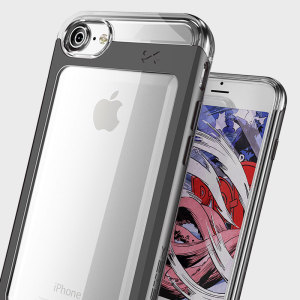 Coque iPhone 7 Ghostek Cloak 2 Aluminium Tough – Transparente / Noire