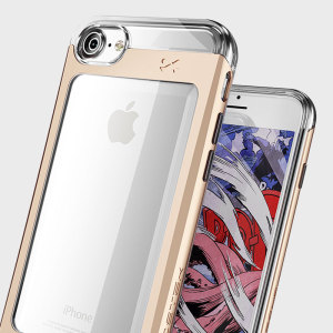 Coque iPhone 7 Ghostek Cloak 2 Aluminium Tough – Transparente / Or
