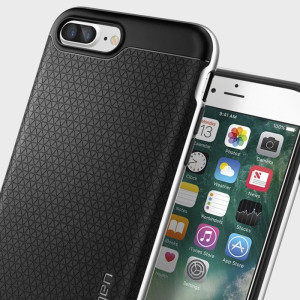 The Spigen Neo Hybrid in satin silver is the new leader in lightweight protective cases. Spigen's new Air Cushion Technology reduces the thickness of the case while providing optimal corner protection for your Apple iPhone 7 Plus.