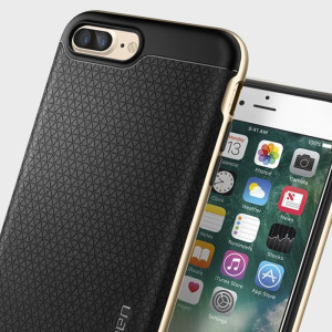 The Spigen Neo Hybrid in champagne gold is the new leader in lightweight protective cases. Spigen's new Air Cushion Technology reduces the thickness of the case while providing optimal corner protection for your Apple iPhone 7 Plus.