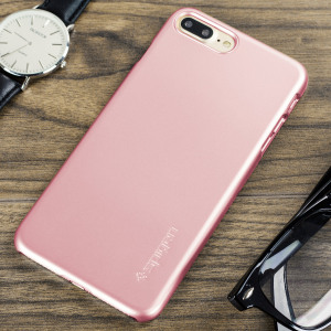 Durable and lightweight, the Spigen Thin Fit series for the Apple iPhone 7 Plus offers premium protection in a slim, stylish package. Carefully designed the Thin Fit case in rose gold is form-fitted for a perfect fit.