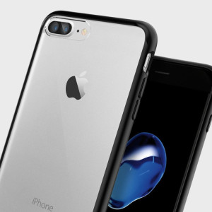 Protect your iPhone 7 Plus with the unique Ultra Hybrid black bumper from Spigen. Complete with a clear back and air cushion technology to show of and protect your iPhone's sleek modern design.