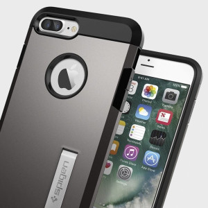 The SGP Tough Armor Case in gun metal is the quintessential protective case for the iPhone 7 Plus, with a tried and trusted design that provides superb impact absorption due to Spigen's air cushion technology.