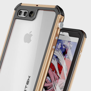 Equip your iPhone 7 Plus with the most extreme and durable protection around! The gold Ghostek Atomic 3.0 is completely waterproof and provides rugged drop protection with it's HD scratch resistant screen protector, whilst keeping the phone slim.