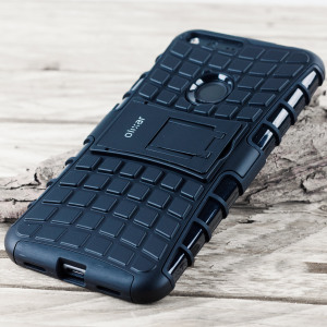 Protect your Google Pixel from bumps and scrapes with this black ArmourDillo case. Comprised of an inner TPU case and an outer impact-resistant exoskeleton, with a built-in viewing stand.