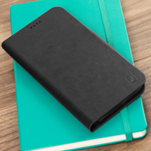 Protect your Google Pixel XL with this durable and stylish black leather-style wallet case from Olixar, featuring two card slots. What's more, this case transforms into a handy stand to view media.