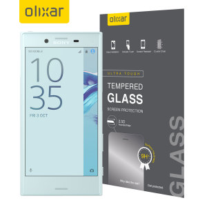 This ultra-thin tempered glass screen protector for the Sony Xperia X Compact by Olixar offers toughness, high visibility and sensitivity all in one package. The outer frame matches the black fascia of your phone perfectly.