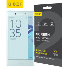 Keep your Sony Xperia X Compact's screen in pristine condition with this Olixar scratch-resistant screen protector 2-in-1 pack.