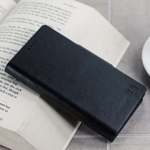 The Olixar leather-style Sony Xperia X Compact Wallet Case in black provides enclosed protection and can also be used to hold your credit cards. The case also transforms into a viewing stand for added convenience.
