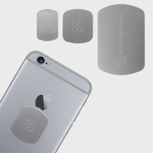 For use with Scosche's MagicMount collection, the MagicPlate in silver is perfect to match the colour of your iPhone. Featuring one large and two small MagicPlates, it is the ideal product to replace any lost magnetic plates.