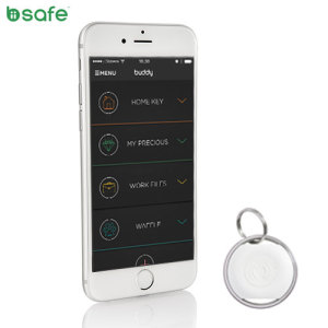 The new and improved white Biisafe Buddy V3 boasts a wealth of new features, including better Bluetooth tracking and a pedometer with a step count. Attach the Buddy Smart Button to your belongings such as keys and track them via the redesigned app.