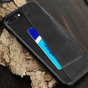 The Mujjo Leather-style Wallet Case for iPhone 7 Plus in Black comes complete with card slots, a large document pocket and is made with a luxurious leather-style material for a classic, prestige and professional look.