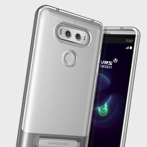 Protect your LG V20 with this precisely designed crystal / silver case from VRS Design. Made with a sturdy yet minimalist design, this see-through case with kickstand offers protection for your phone while still revealing the beauty within.