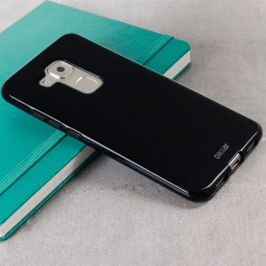 Custom moulded for the Huawei Nova Plus this black FlexiShield case by Olixar provides slim fitting and durable protection against damage.